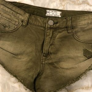 Green Free People shorts. Size 26